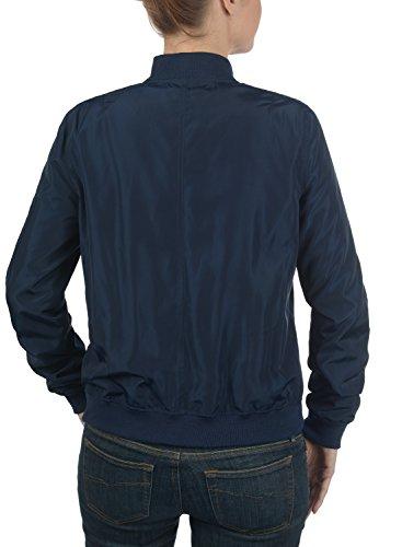 DESIRES Temari Damen Übergangsjacke Bomberjacke mit schmalem Stehkragen aus hochwertiger Materialqualität Insignia Blue (1991)