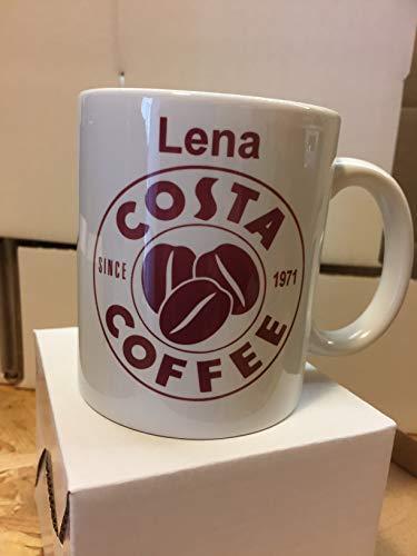 Costa Coffee Tasse, personalisierbar. Ihren Namen Bedruckte Tasse Kaffee Tee Tasse. CC082