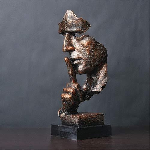 LWZY Le Silence est Une Statue dorée de créatif,Moderne...