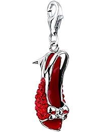 Nena Lina encanto colgante de zapatos en 925er plata de ley para pulsera, collar, pendientes, pulsera y colgante carrier muchos populares 716201–052