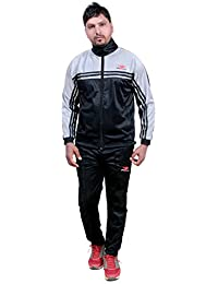 HPS Sports Tracksuit for Men,Silver Colour Polyester Slim fit Summer Stylish Trending Casual and Gym wear Specially Designed for Athletic Body
