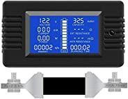 ZYL-YL Multifunction Battery Monitor Meter,0-200V,0-300A (Widely Applied to 12V/24V/48V RV/Car Battery) LCD Di