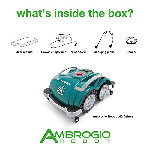 Ambrogio Mähroboter | Modell : L60 Deluxe | Einfach zu bedienen, ohne Installation und ohne Begrenzungskabel für kleine Gärten - 4
