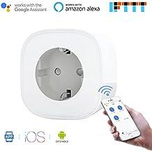 Wi-Fi Enchufe Inteligente Inalámbrico no se Requiere Hub (16A 3680W) Zócalo del Interruptor Control Remoto Compatible con Alexa, Google assistant e IFTTT Control con IOS y Android MSS210 Paquete de 1 de Meross