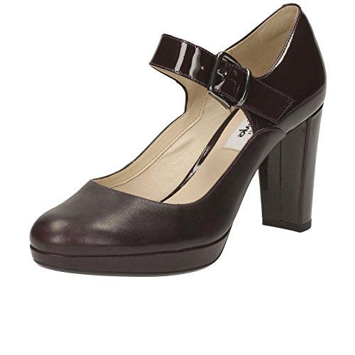Clarks Kendra Gaby Womens Wide Mary Jane Shoes 4 Purple