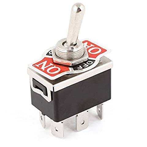 Toggle Switch - SODIAL(R) AC 250V/10A 125V/15A DPDT 3 Position ON/OFF/ON 6 Pins Toggle Switch