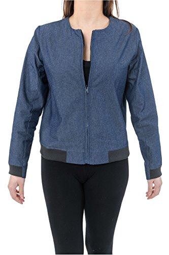 Jacke im Bomberjacke Style Teddy Jean Urban Chi - Gr. ( 42/44 DE )XX-Large, blau