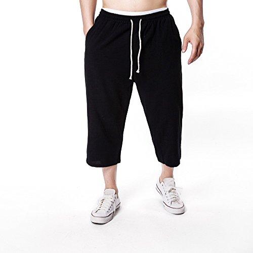 l Herren Fitness Kordelzug Designer Jeans Chino Hose Cargo Jeans Jogging Pants Stretch Hose Basic Chinohose Regular Slim Fit Jeanshosen Herren Sporthose Sweatpants Freizeithose ()