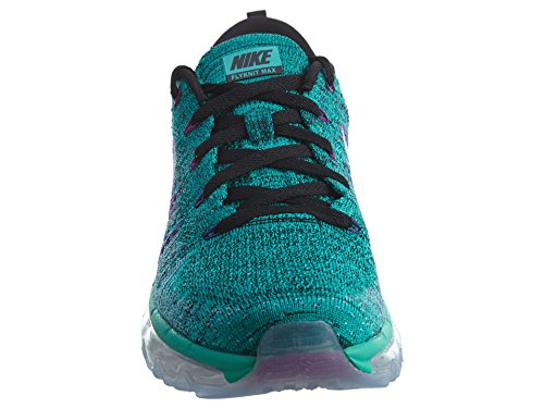 Nike Wmns Flyknit Max, Scarpe da Corsa Donna Black/White-clear Jade-hyper Volt