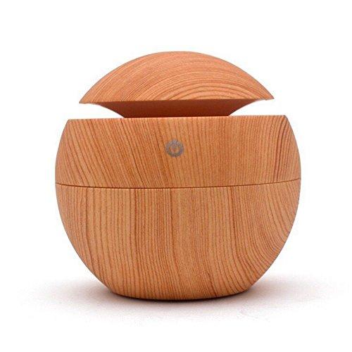 Nclon Tragbare Aromatherapie Diffusor Luftbefeuchter, Holzmaserung Aroma Diffuser Usb Geräuscharmer Befeuchter Cool Mist Mit Filter Für (Kühlen Nebel-luftbefeuchter Kleinen Raum)