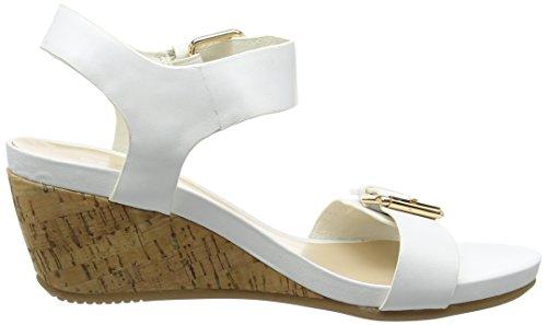 Carvela Splinter, Sandales Compensées femme Blanc - Blanc