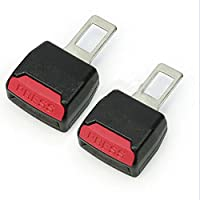Lukuki 2Pcs Universal Car Safety Seat Adjustable Belt Clip Buckle Extender Extension