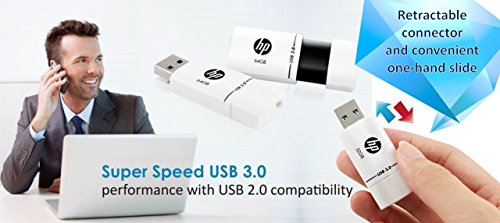 HP X765W USB 3.0 16GB Pen Drive (White & Black)