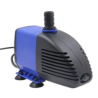 Su-luoyu Pompe à eau Submersible pour Aquarium Multifonction Pompes de Piscine Silencieux Fontaine 2500L/H