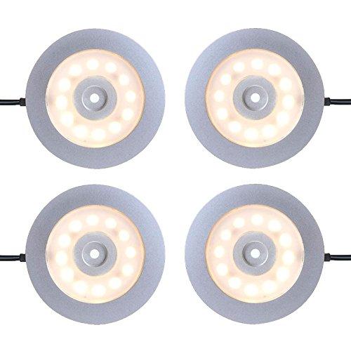 ProPlus 4er Set Wohnwagen Wohnmobil Boot Innenbeleuchtung Led Aufbauspot schwenkbar 240l, 12V-3,4W, Ø55x5,0mm