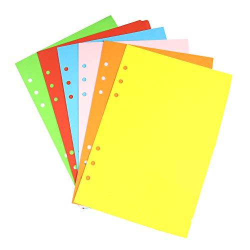 NUOBESTY 6 Blätter A5-Unterteilungen Farbige Planner-Teiler Registerkarte Indexseite für Notizbuch - Teiler Registerkarte