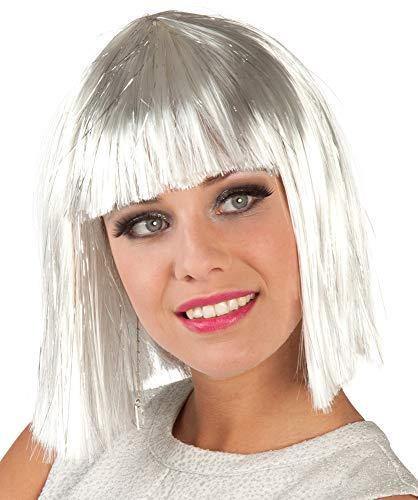 �cke Glamour Bob mit Silber Strähnen - Weiß ()
