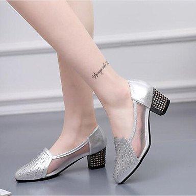 Damen Tanzschuhe Fersen Modern Synthetic Cuban Heel Schwarz / Gold / Silber Silver