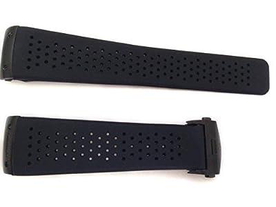 22/18mm reloj correas negro polietileno, goma negro cierre para que se ajuste a TAG Heuer