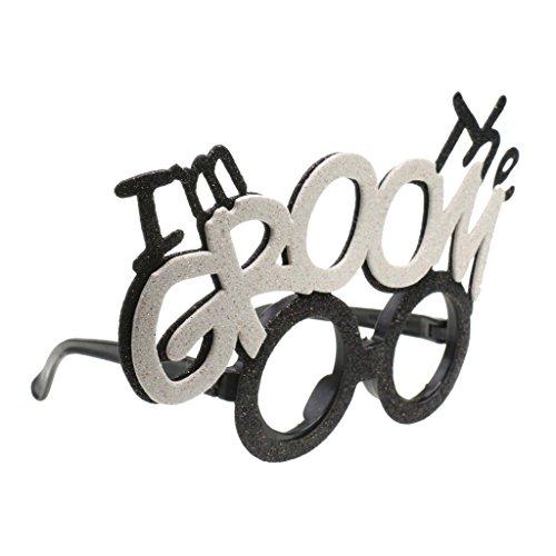 MagiDeal Karneval / Fasching Party-Brille Spaß-Brille, bedruckte Sonnenbrille als lustiges Accessoire für Kostüm - I Am the Groom, 19 x 11,8 cm
