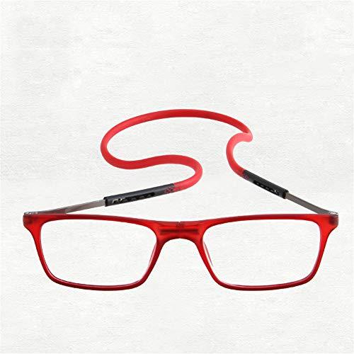 5a05474647 KOMNY Cuello de Colgar portátil Gafas de Lectura Gafas de imán Plegable  Gafas de Lectura Anti