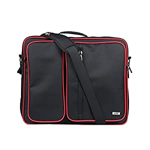 Console Case, Sony PS4 Pro 4K, Xbox one, Wii u Travel Console Carrying Bag with Controller , Games , Headset , Accessories Storage and Adjustable Padded Shoulder Strap,Black