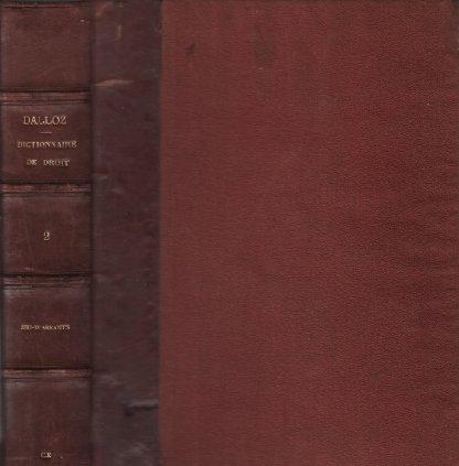 Dictionnaire pratique de droit tome 2