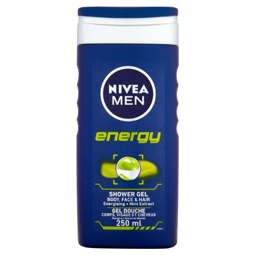 NIVEA MEN Energy Shower Gel 250ml (6 x 250ml) - Energizing Body Gel