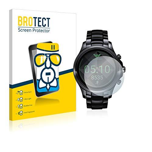 BROTECT Protector Pantalla Cristal compatible con Emporio Armani Connected Touchscreen 5000-Series Gran Dureza, AirGlass