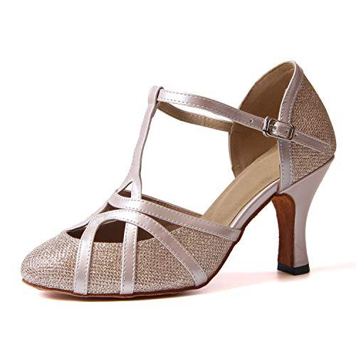 Jywmsc Mujer Latín Resplandecer Zapatos