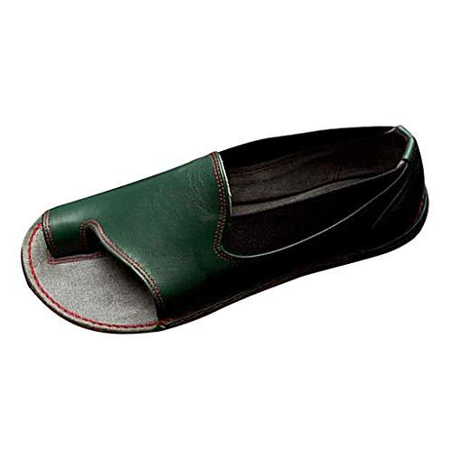 Peep Toe Lässig Slip (BASACA Sandalen Damen Frauen Mädchen Strand Sommer Schuhe Frau Peep Toe Ankle gemischte Farben Slipper römische Mode 2019 (41 EU, a-Grün))