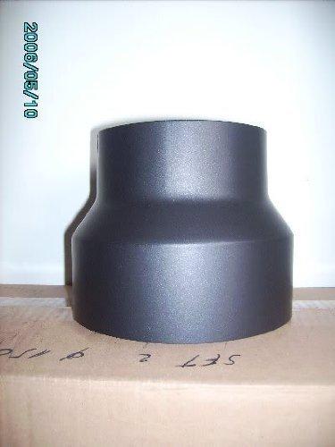 Réduction 150 mm > 120 mm pour tuyau de poêle cheminée, noir