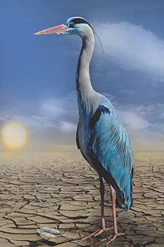 Blue Heron Garden Statue (Blue Heron Garden Journal)
