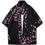 Camisa Kimono Estilo Japonés para Hombres Mujer Estampado Holgado Manga ...