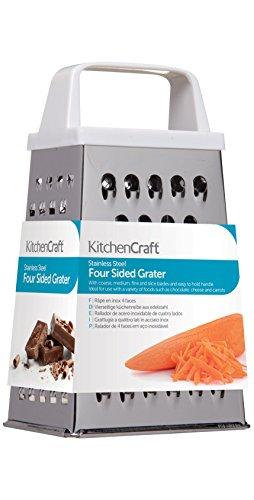 Kitchen Craft KCAB938 Râpe 4 Faces, Acier Inoxydable, Argent, 9 x 12 x 16 cm