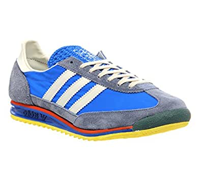Adidas SL Vintage Mens Suede & Textile Trainers Blue White - 44-2/3 EU
