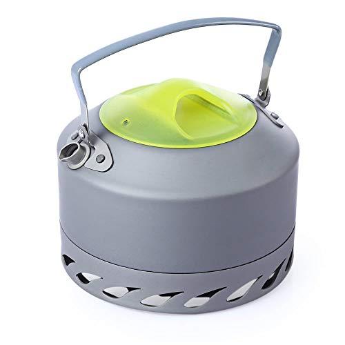 QHYXT 0.9L Aluminiumlegierung Wasserkocher tragbare kompakte Camping