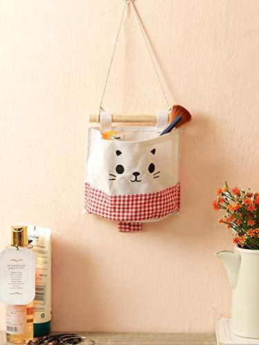 Cortina Wall Hanging Storage Bag, Waterproof Over The Door Closet Organizer | Nylon Fabric Hanging Pocket Organizer for Bedroom, Bathroom (Multicolor)