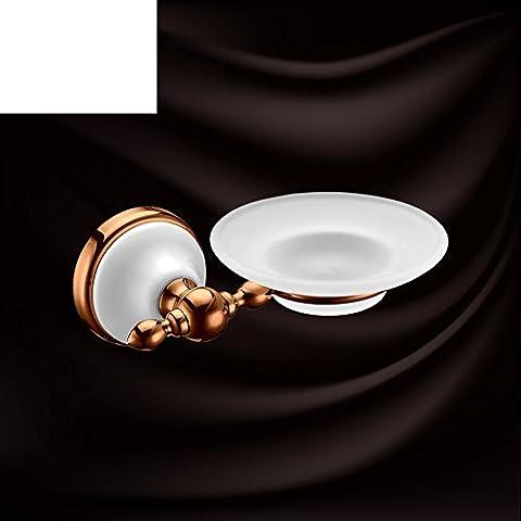 Europeo Portasapone in acciaio inox rosa oro