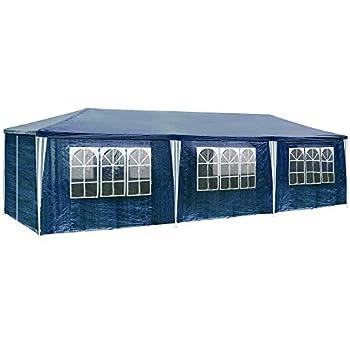 Partyzelt Festpavillon Gartenzelt BierzeltFaltpavillon mit 8 Wände 3x9m7916
