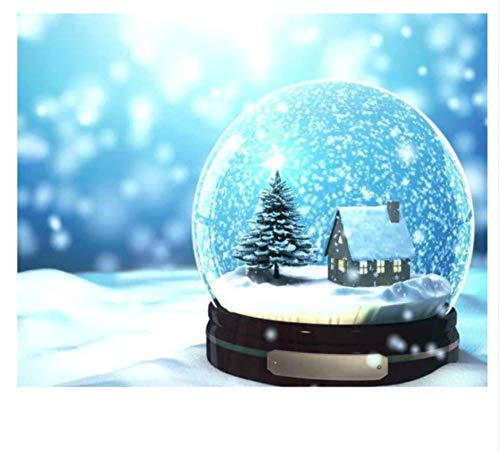 Yangll Diamant Mosaik Weihnachten Snow Globe Diamant Malerei Kreuzstich Diamant Stickerei Full Kit Muster Strass Arts30X40Cm (Diy Snow Globes)