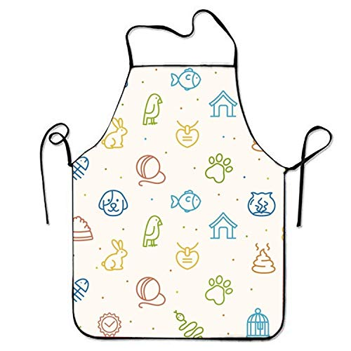umpkins Apron for Baking Crafting Gardening Cooking Durable Easy Cleaning Creative Bib for Man and Woman Standar Size ()
