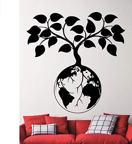 Finloveg Erde Schützen Entwickelt Wandaufkleber Spezielle Bedeutung Pflanze Auf Der Erde Kunst Wandtattoos Für Home Special Decor Wandbild 60X60 Cm