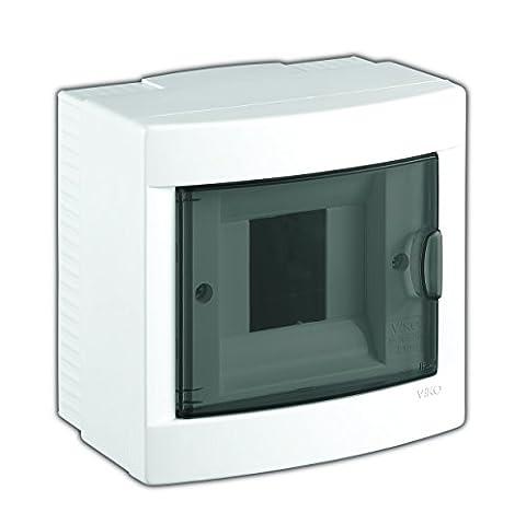 Aufputz Kleinverteiler 4 Module / Sicherungskasten / Verteilerkasten Aufputz IP40, 1-reihig mit