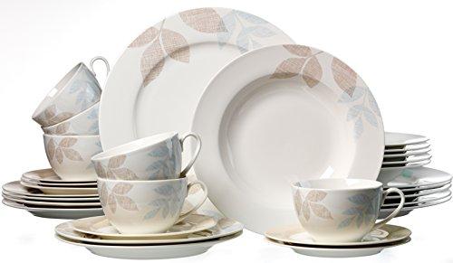 Ritzenhoff & Breker Kombiservice Cecilia aus Fine China Porzellan, 30-teilig