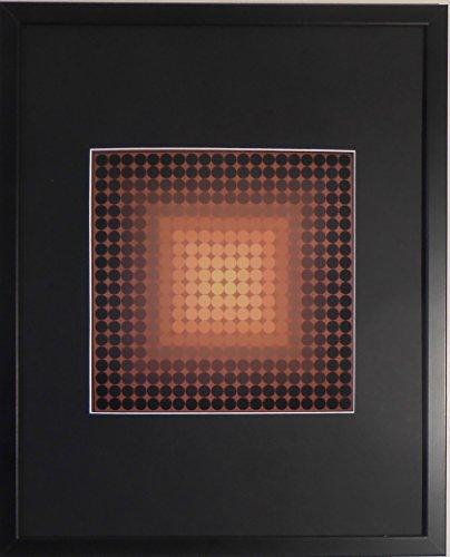 aufgezogen und gerahmt CTA Phil Kunstdruck Victor Vasarely–50,8x 40,6cm–Teil der...