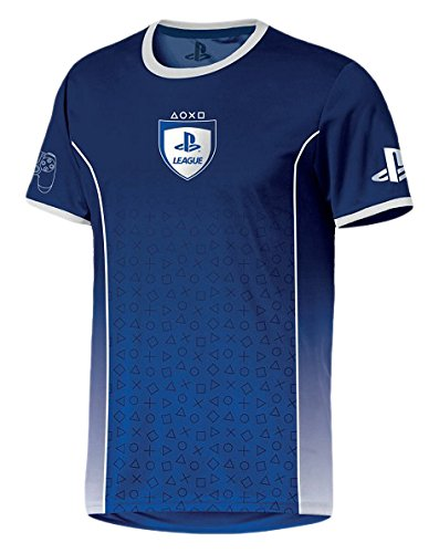 Preisvergleich Produktbild PlayStation - League Symbol Fade Herren T-Shirt - Blau,  Große:L