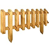 Floranica® Voortuinhek gemaakt van hout, weerbestendig geïmpregneerd - insteekhek, minihek, Fries hek, decoratief hek als tuinhek, houten hek, Kleur:natur, Grootte:4 stk. 104cm lang / 40cm hoog