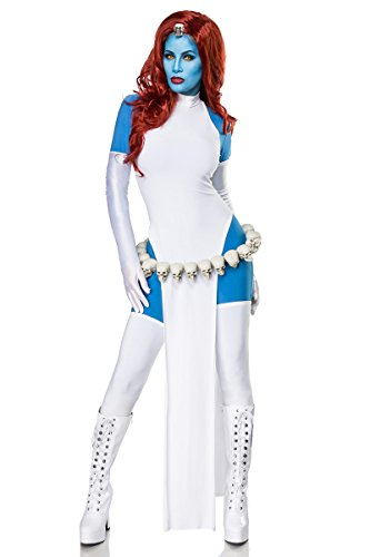 Sexy 6-Teiliges Mystic Mystique Kostüm Damenkostüm Held Mutant Damen TV Halloween Karneval X Men