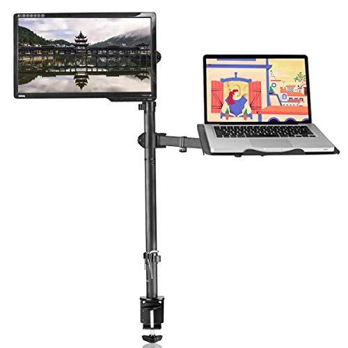 """Suptek Monitor Halterung mit Laptop Volleinstellbar für 13""""-27"""" Bildschirme Volleinstellbar MD6832TP004"""